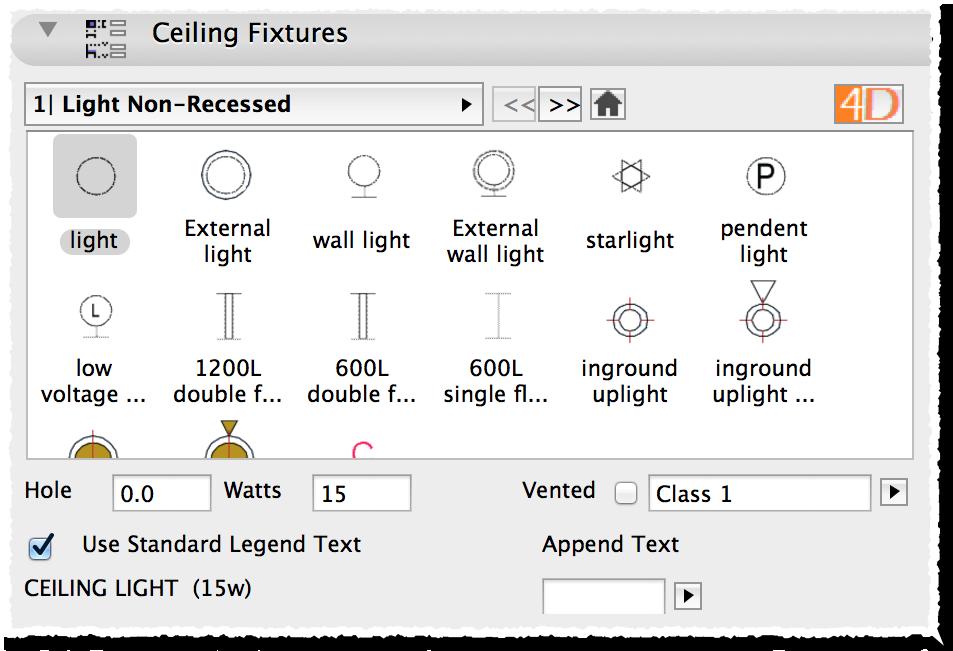 Light Fixture Symbols
