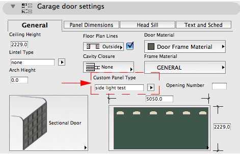 EXAMPLE OF THE GARAGE DOOR USING CUSTOM COMPONENTS