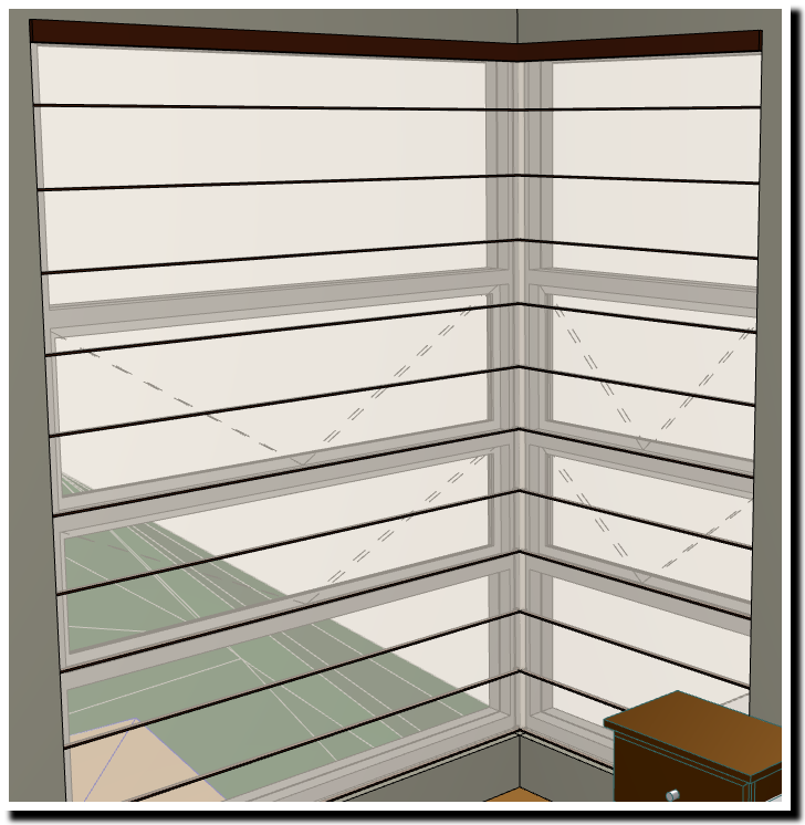 Roman Blinds on a Corner Window