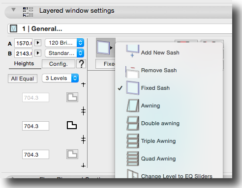 Layered window UI selection